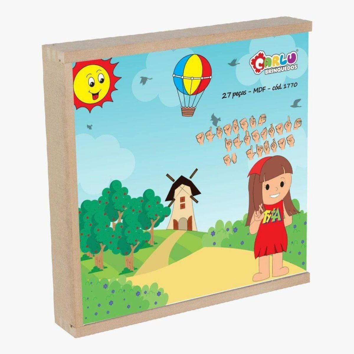 Brinquedo Educativo Libras - Alfabeto Ilustrado