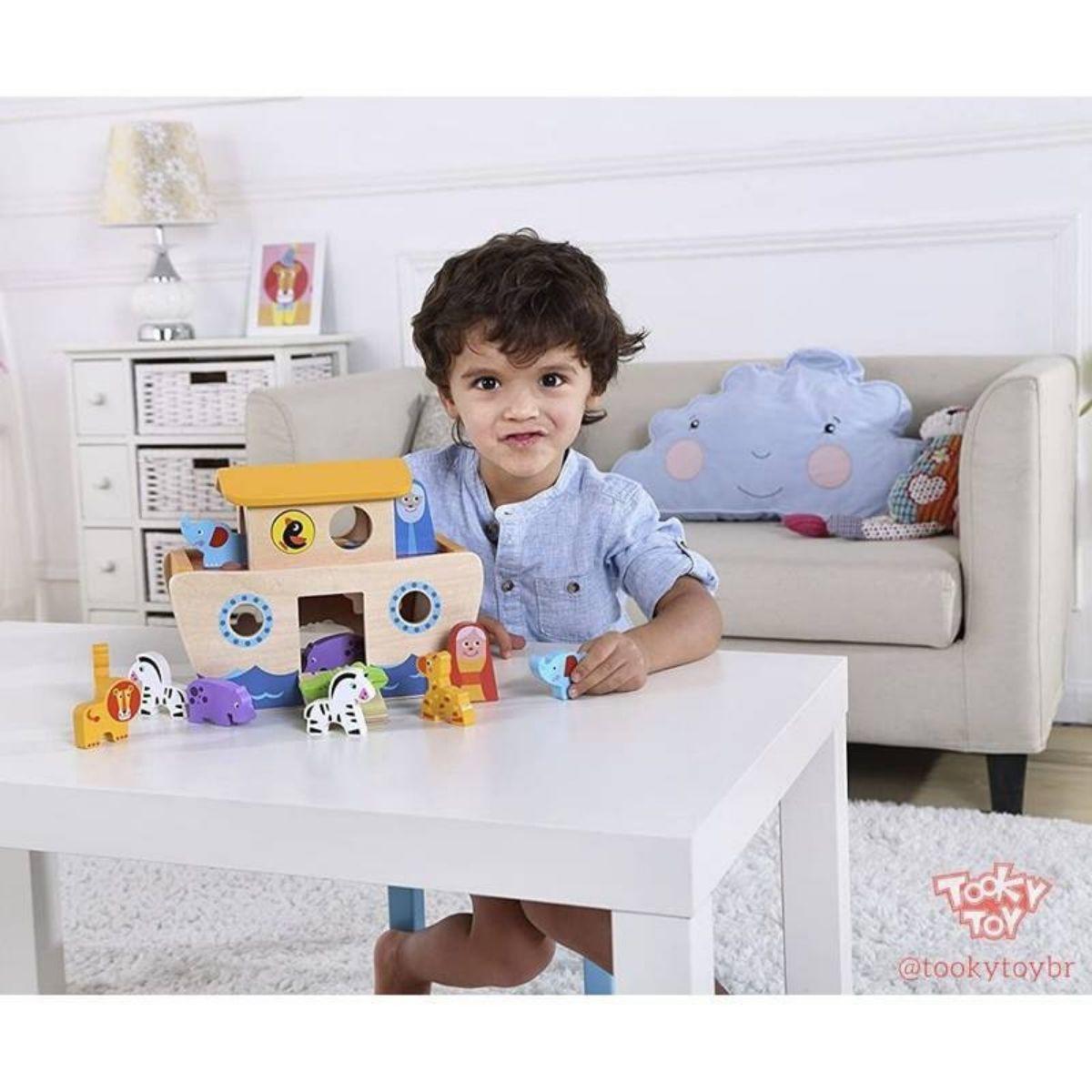 Brinquedo Educativo Lúdico Arca De Noé