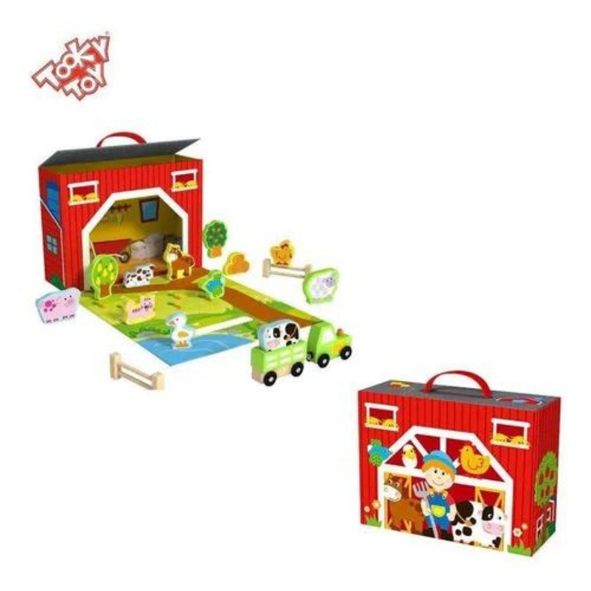 Brinquedo Educativo Lúdico Caixa Divertida Fazenda MDF
