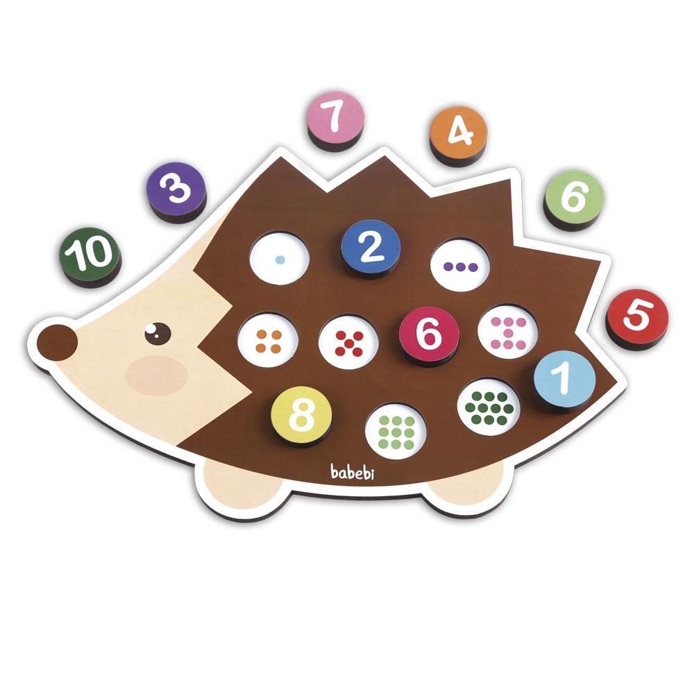 Brinquedo Educativo Montessori Conte Até 10 Com O Ouriço