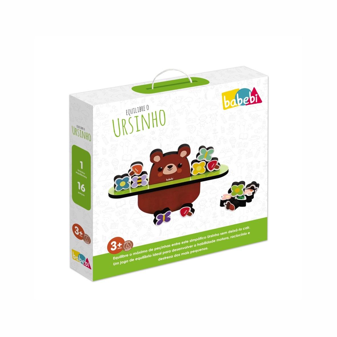 Brinquedo Educativo Montessori Equilibre O Ursinho