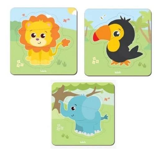Brinquedo Educativo Montessori Quebra Cabeça Baby - Elefante
