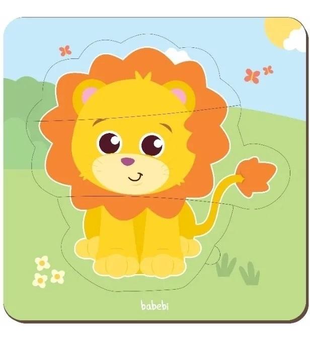 Brinquedo Educativo Montessori Quebra Cabeça Baby - Leão