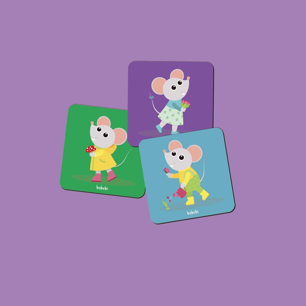 Brinquedo Educativo Pedagógico Memorix Ratinhos