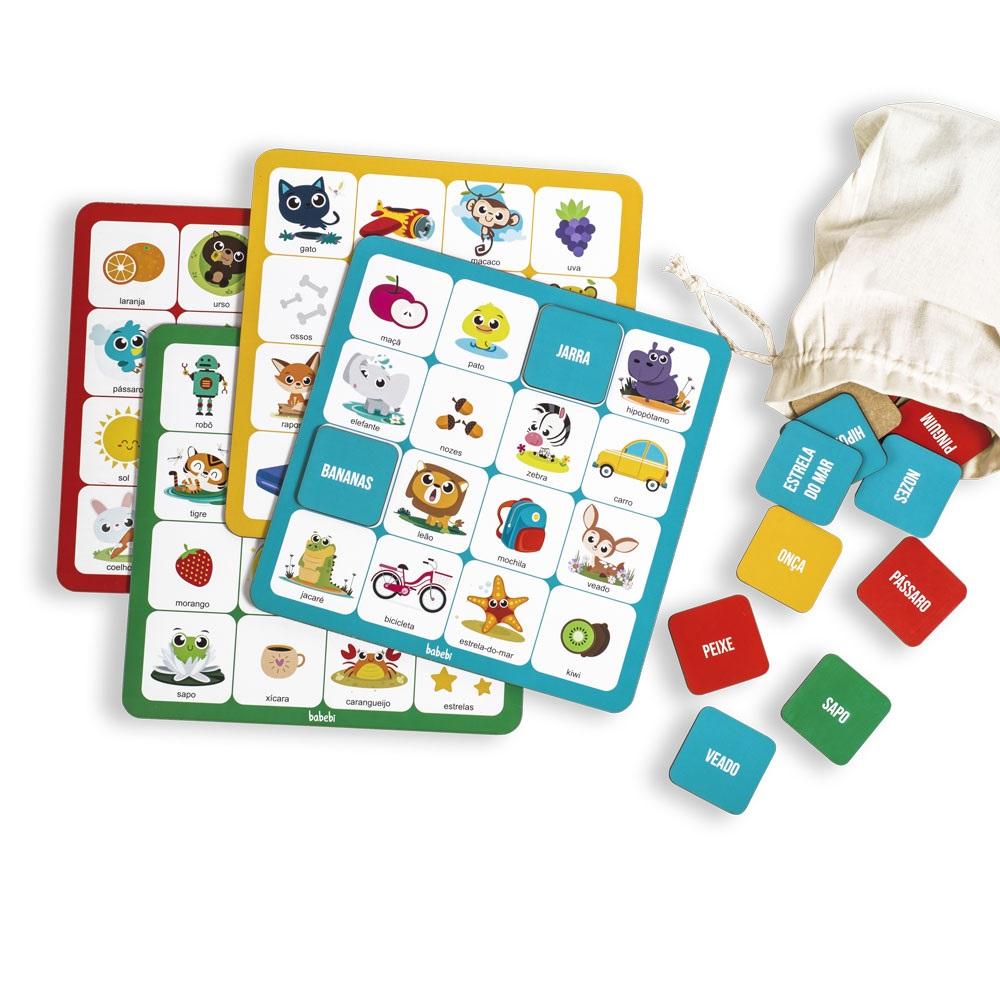 Brinquedo Educativo Pedagógico Pedagógico Bingo Das Palavras
