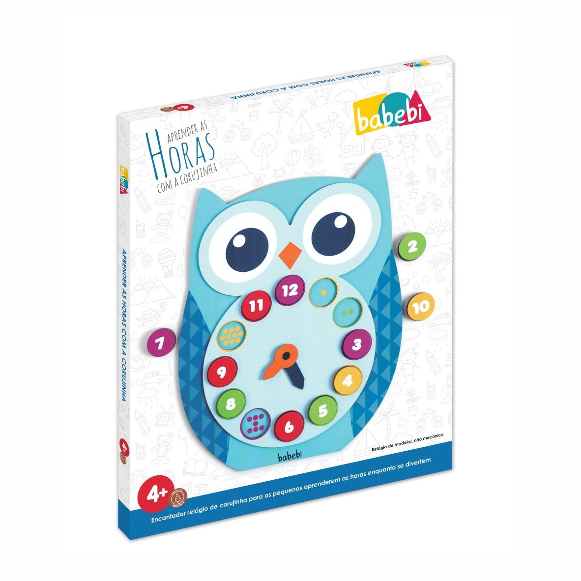 Brinquedo Educativo Pedagógico Relógio Da Corujinha
