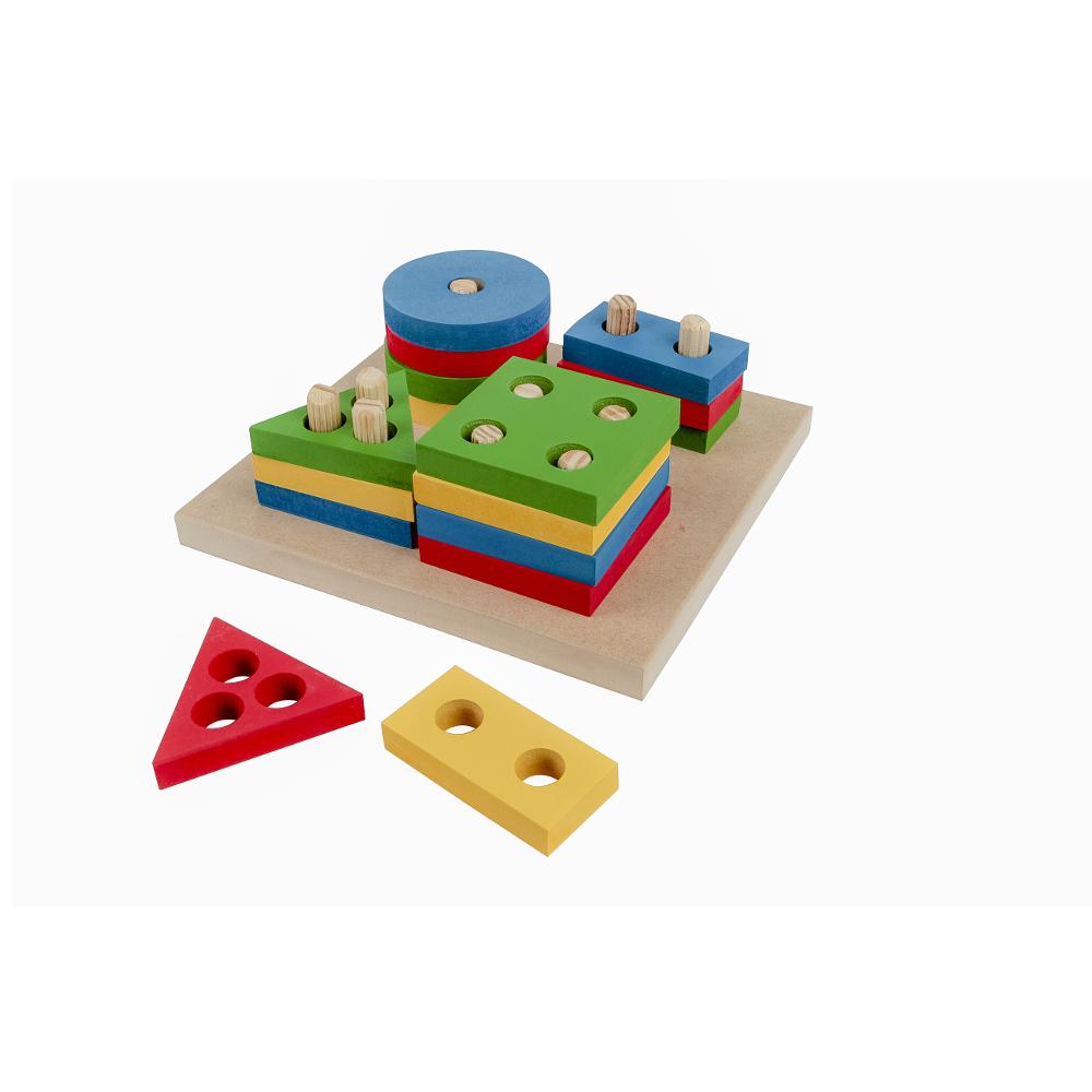 Brinquedo Educativo Pedagógico Montessori Forma Geométrica