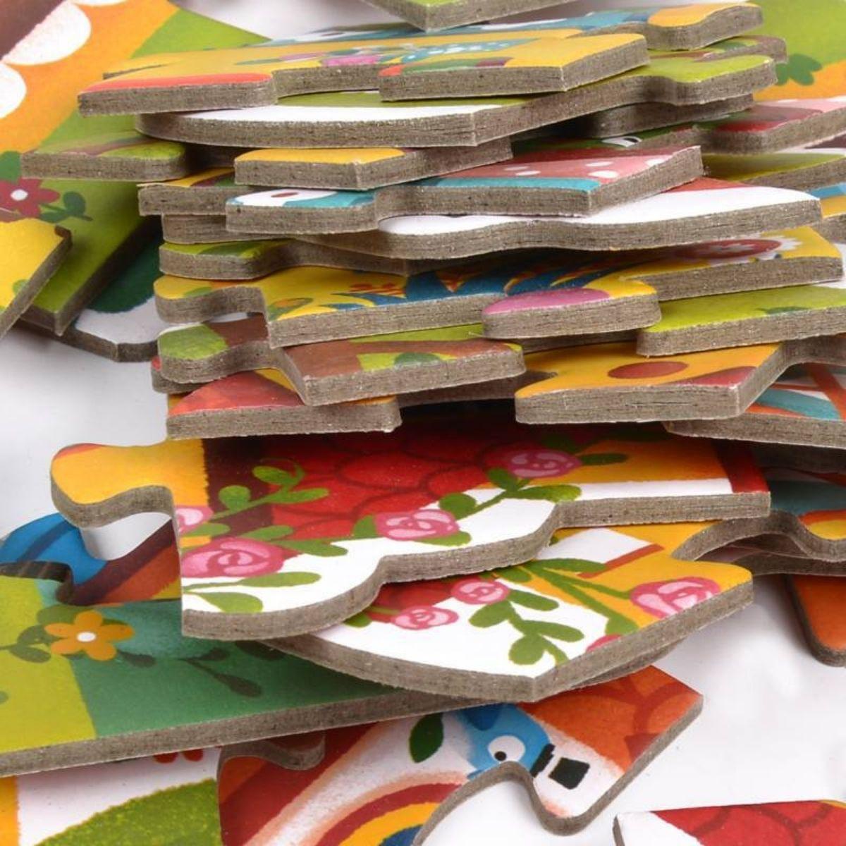Brinquedo Educativo Quebra Cabeça  4 em 1- Estação do Ano