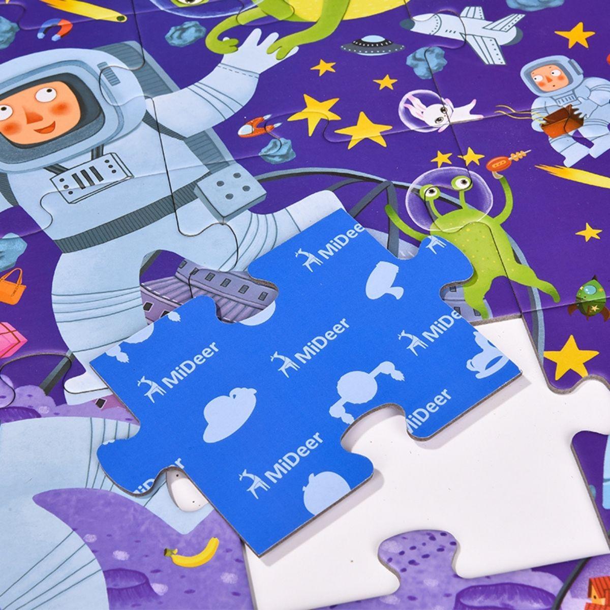 Brinquedo Educativo Quebra Cabeça - Detetive no Espaço