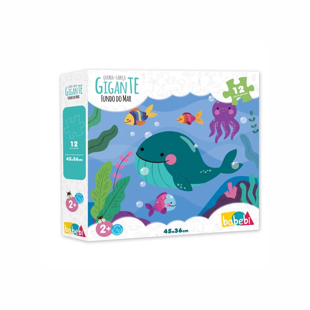 Brinquedo Educativo Quebra Cabeça Gigante Fundo Do Mar