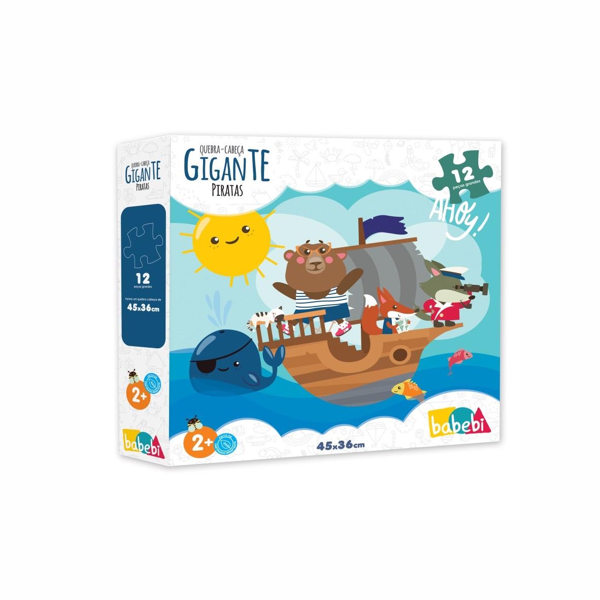 Brinquedo Educativo Quebra Cabeça Gigante Piratas
