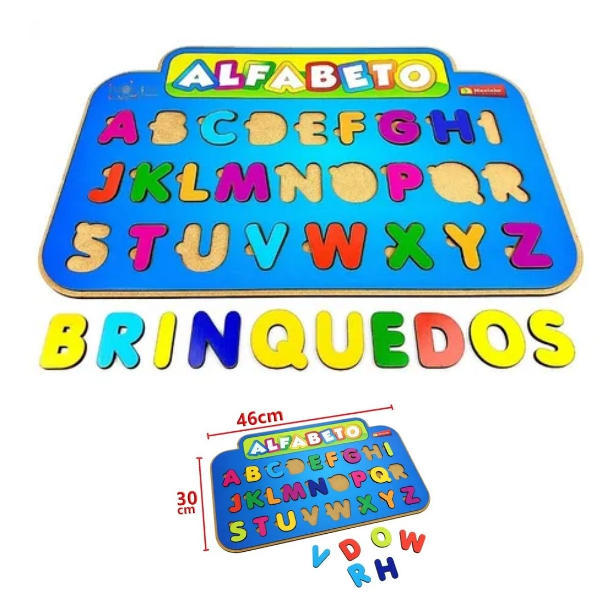 Brinquedo Educativo Quebra-Cabeça Infantil - Alfabetico