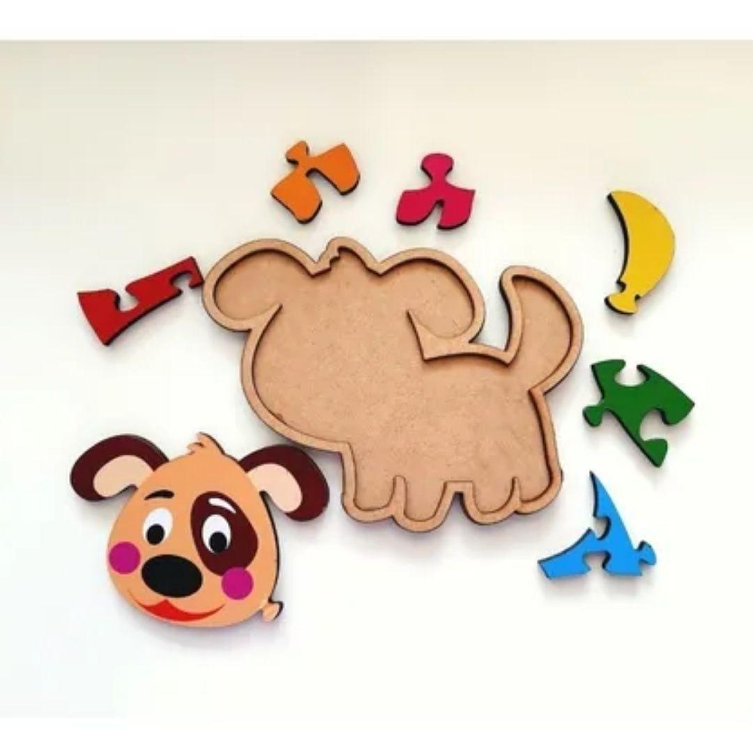 Brinquedo Educativo Quebra-Cabeça Infantil - Cachorrinho