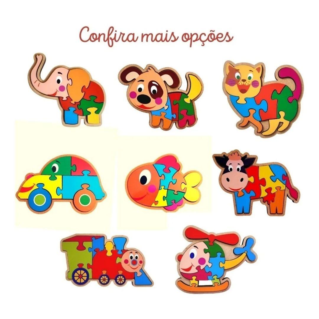 Brinquedo Educativo Quebra-Cabeça Infantil - Carro