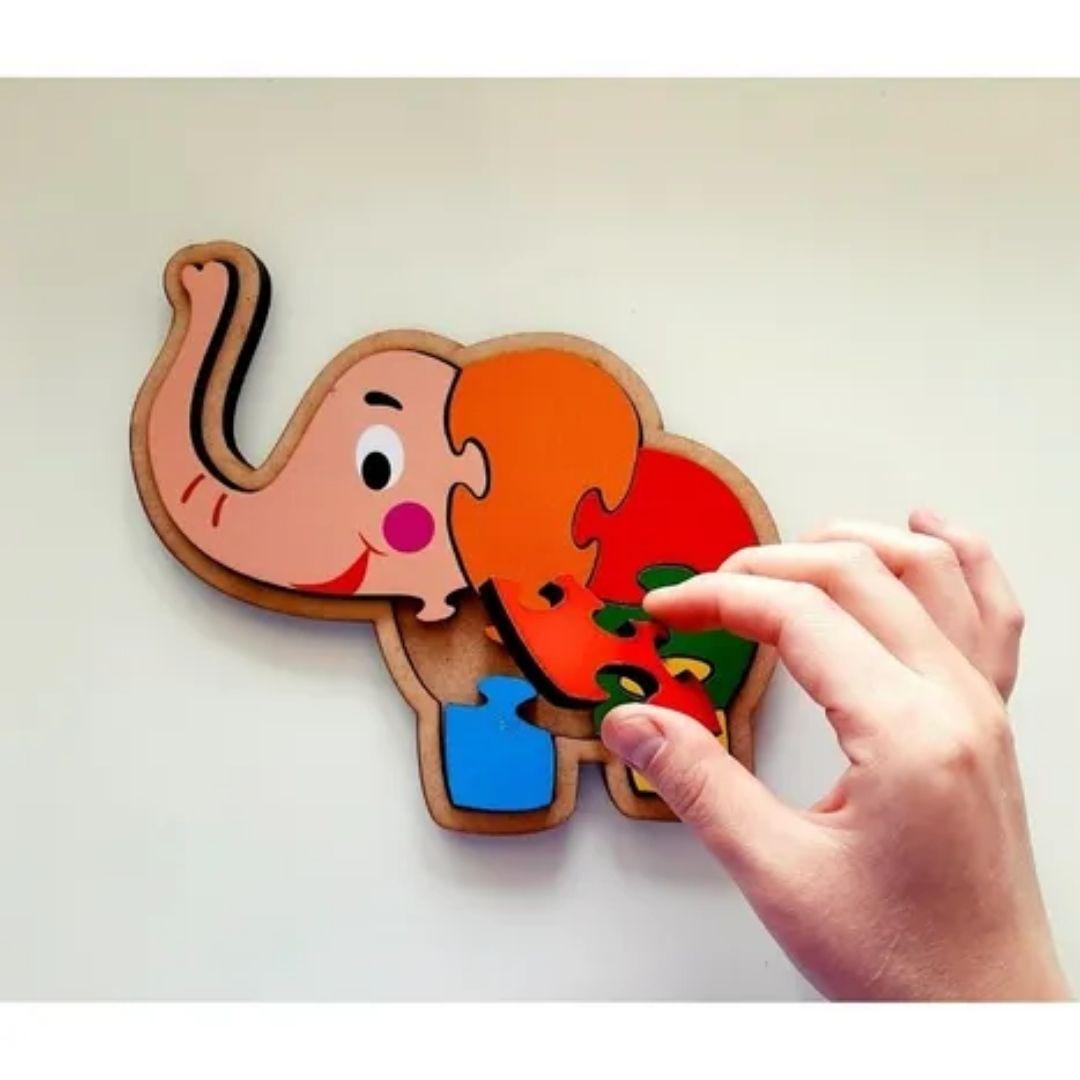 Brinquedo Educativo Quebra-Cabeça Infantil - Elefante
