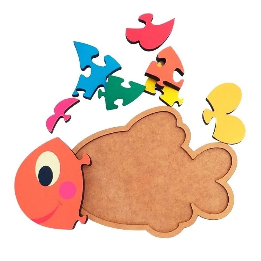 Brinquedo Educativo Quebra-Cabeça Infantil - Peixe