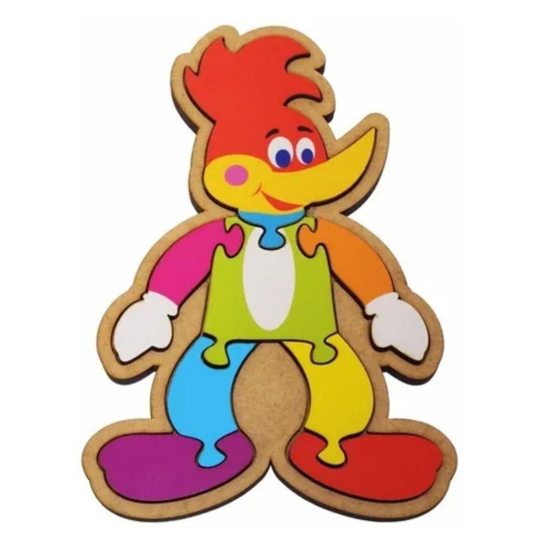 Brinquedo Educativo Quebra-Cabeça Infantil - Pica Pau