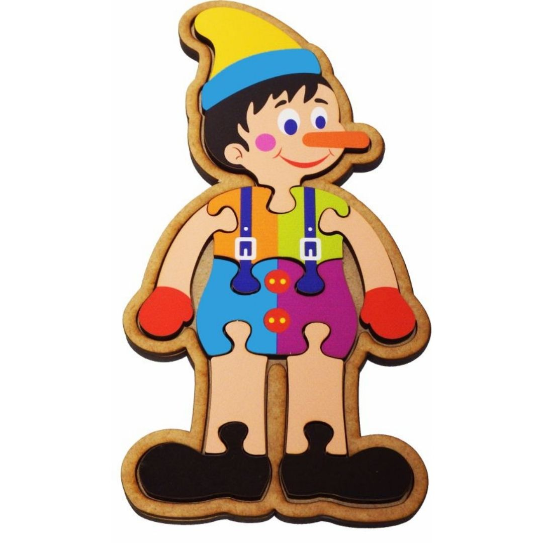 Brinquedo Educativo Quebra-Cabeça Infantil - Pinóquio