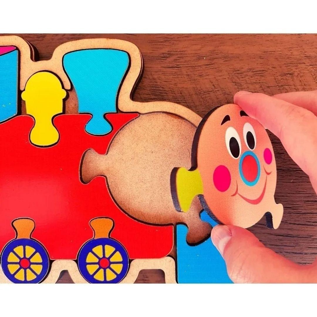 Brinquedo Educativo Quebra-Cabeça Infantil - Trenzinho