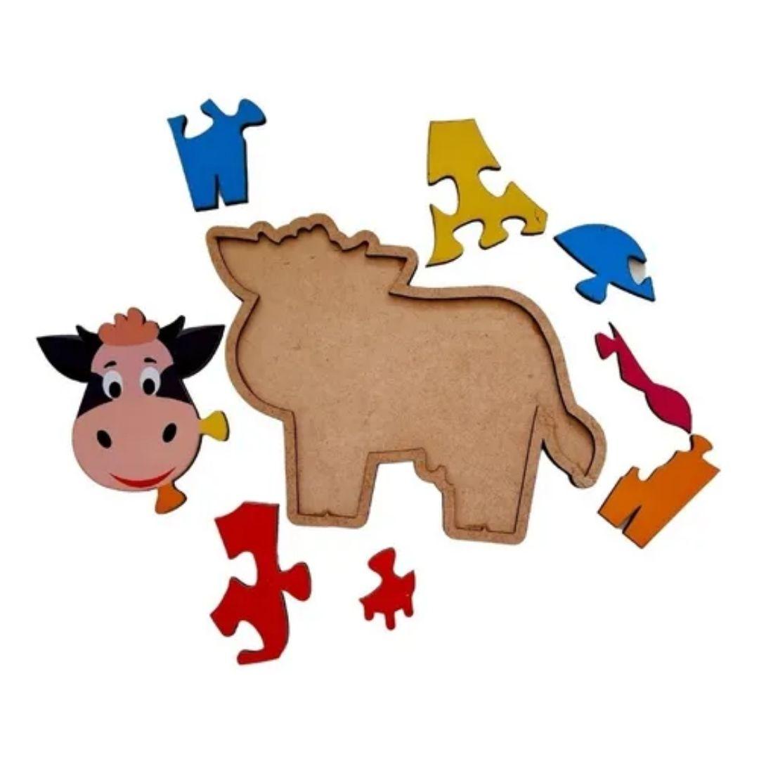 Brinquedo Educativo Quebra-Cabeça Infantil - Vaquinha