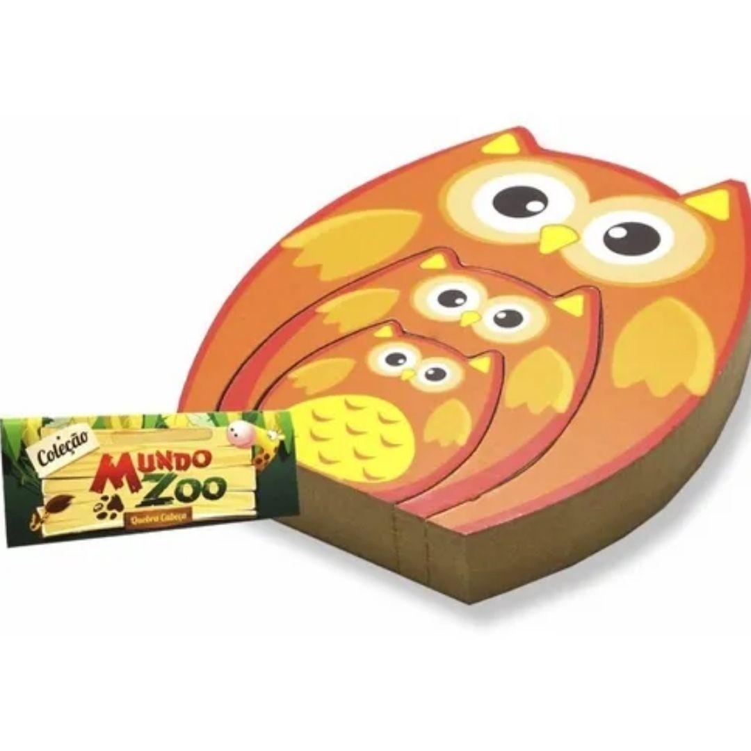 Brinquedo Educativo Quebra-Cabeça Infantil - Zoo Coruja