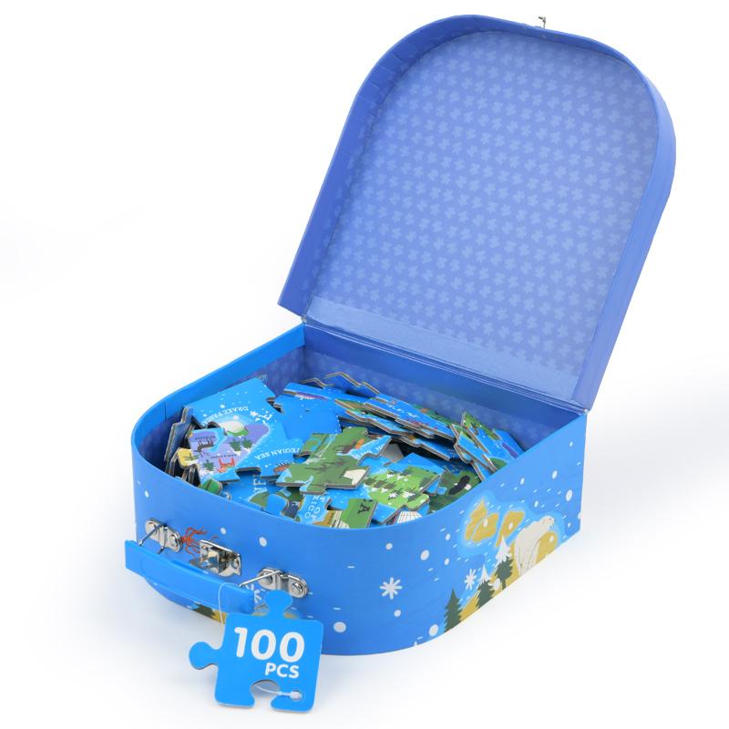 Brinquedo Educativo Quebra Cabeça - Mapa Mundi Com Caixa