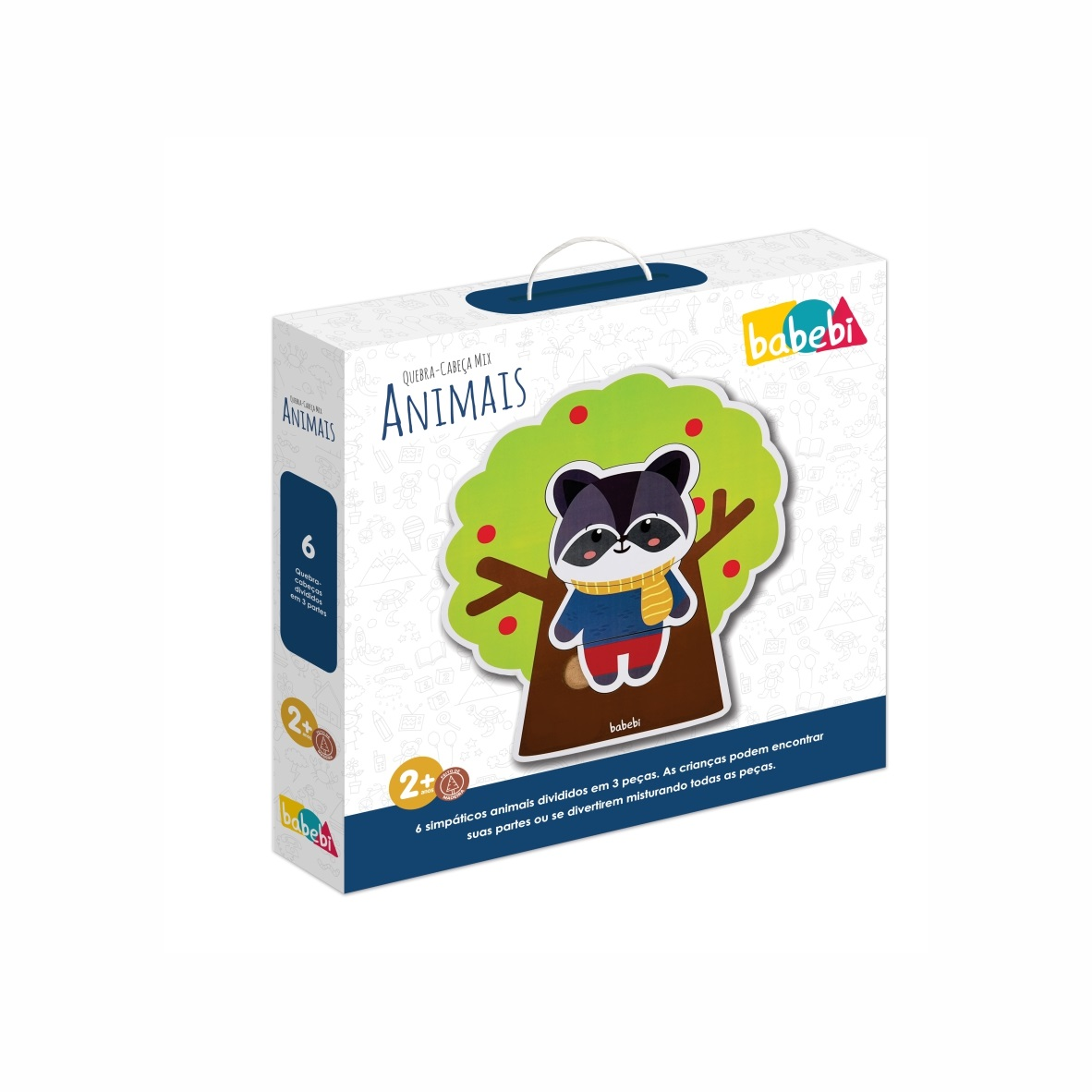 Brinquedo Educativo Quebra-Cabeça Mix Animais