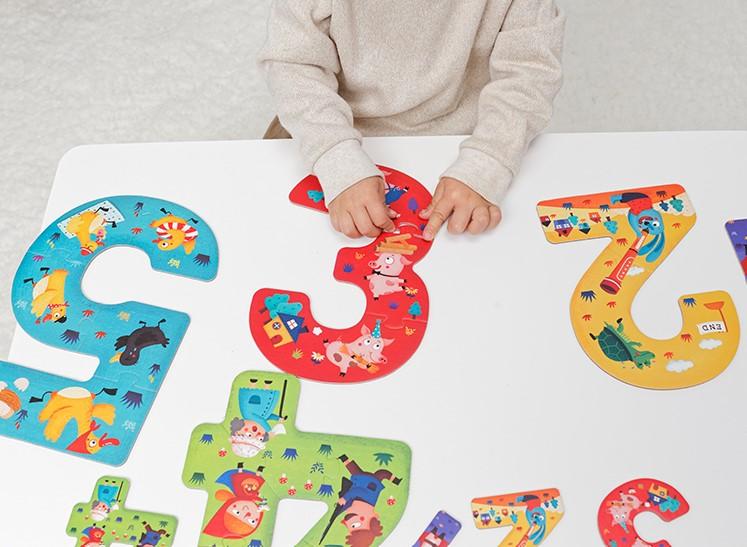 Brinquedo Educativo Quebra Cabeça - Números