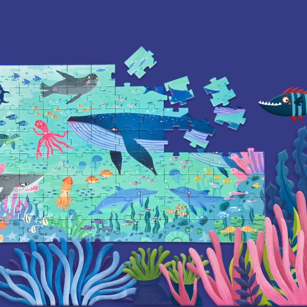 Brinquedo Educativo Quebra Cabeça - Oceano Maravilhoso