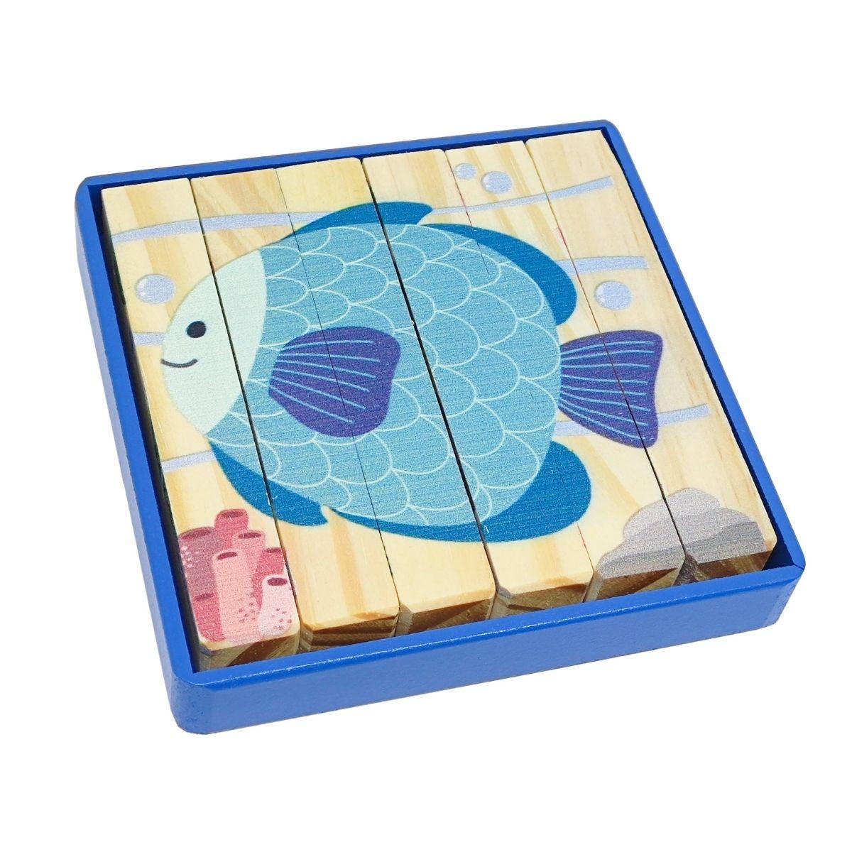 Brinquedo Educativo -Quebra Cabeça Palitos Água