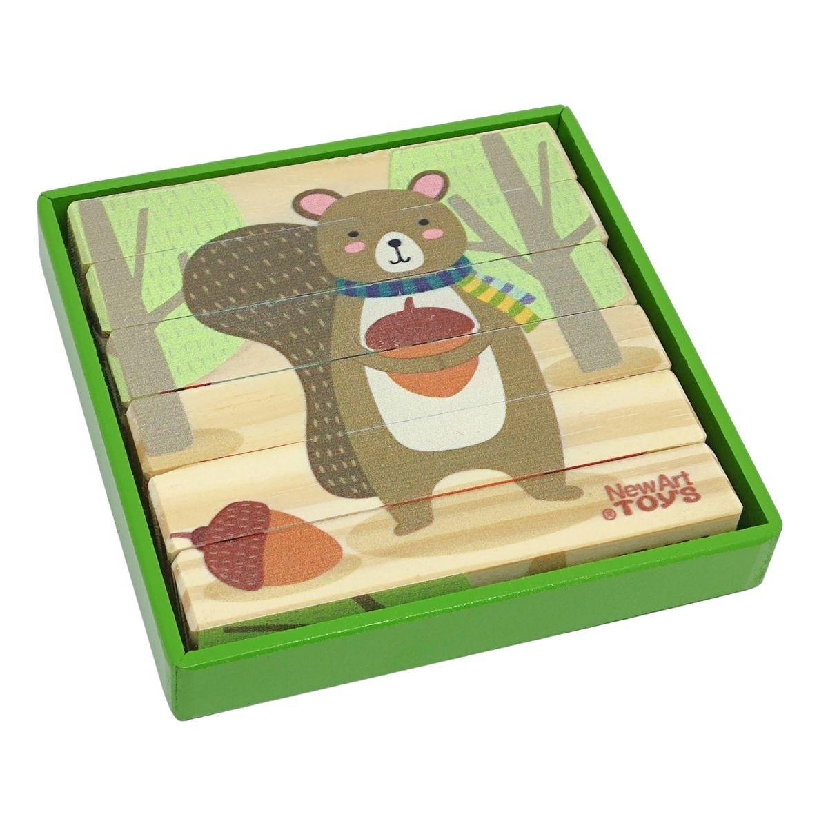 Brinquedo Educativo -Quebra Cabeça Palitos Terra