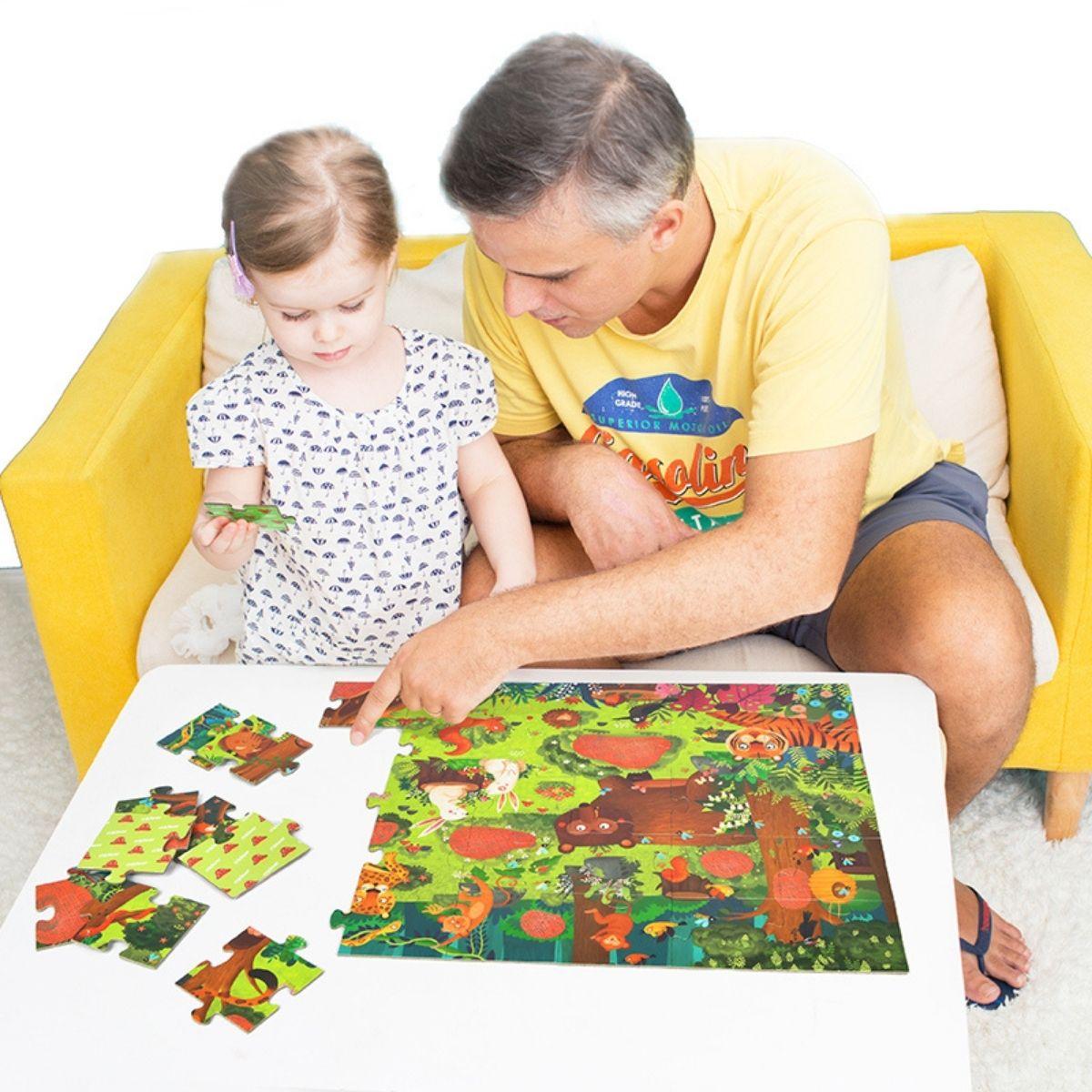 Brinquedo Educativo Quebra Cabeça Secreto - Floresta