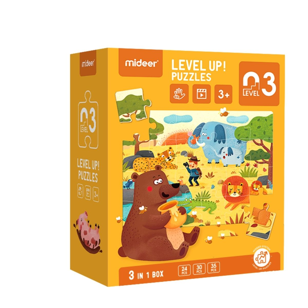 Brinquedo Educativo Quebra Cabeça - Selva