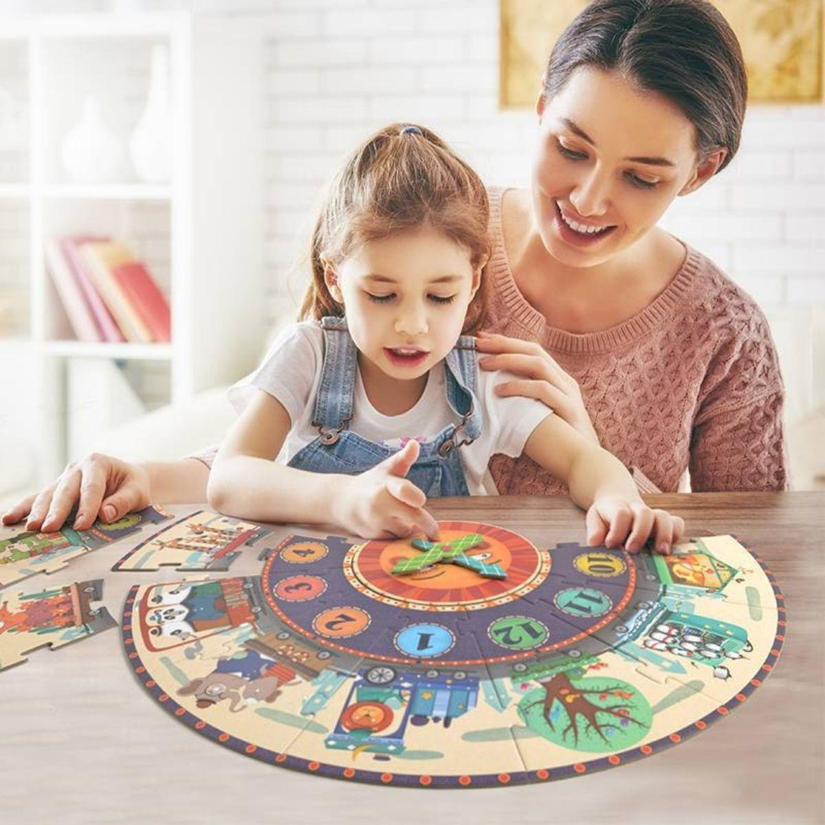 Brinquedo Educativo Quebra Cabeça  Super Relógio