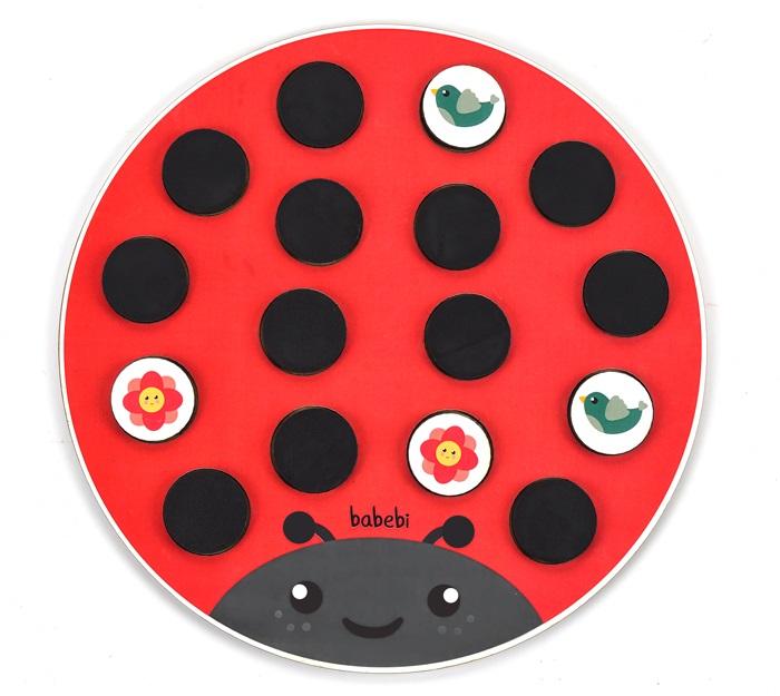 Brinquedo Educativo Tabuleiro Jogo Da Memória Joaninha