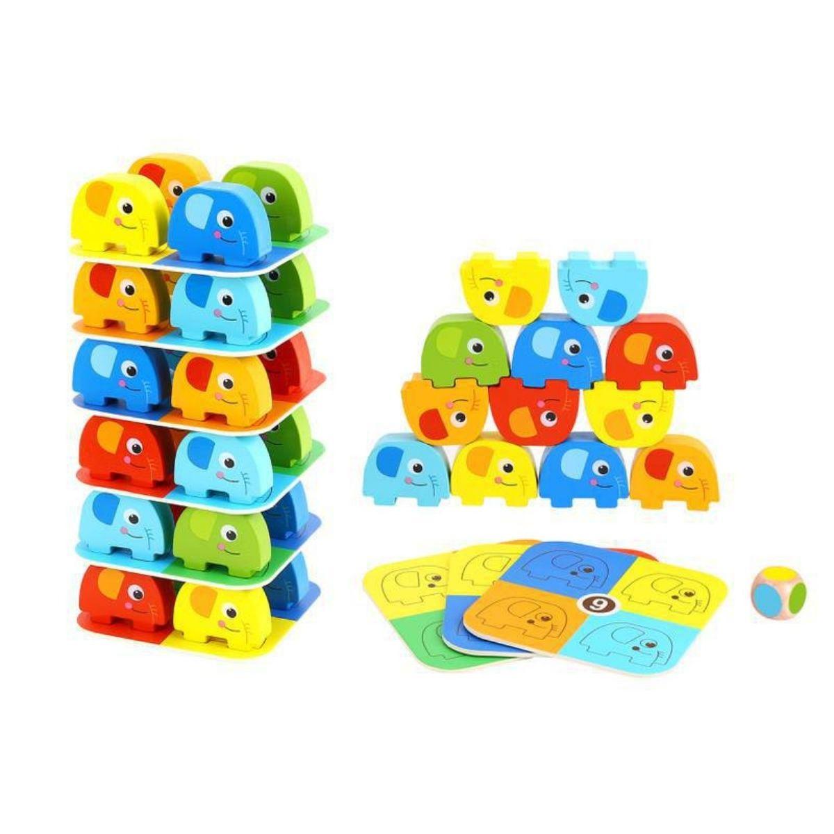 Brinquedo Lúdico Jogo de Empilhar Elefantes