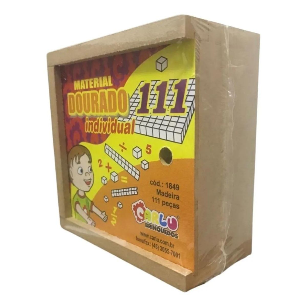 Brinquedo Material Dourado Madeira - 111 peças