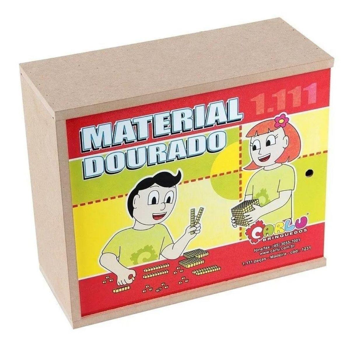 Brinquedo Material Dourado Madeira - 1.111 peças