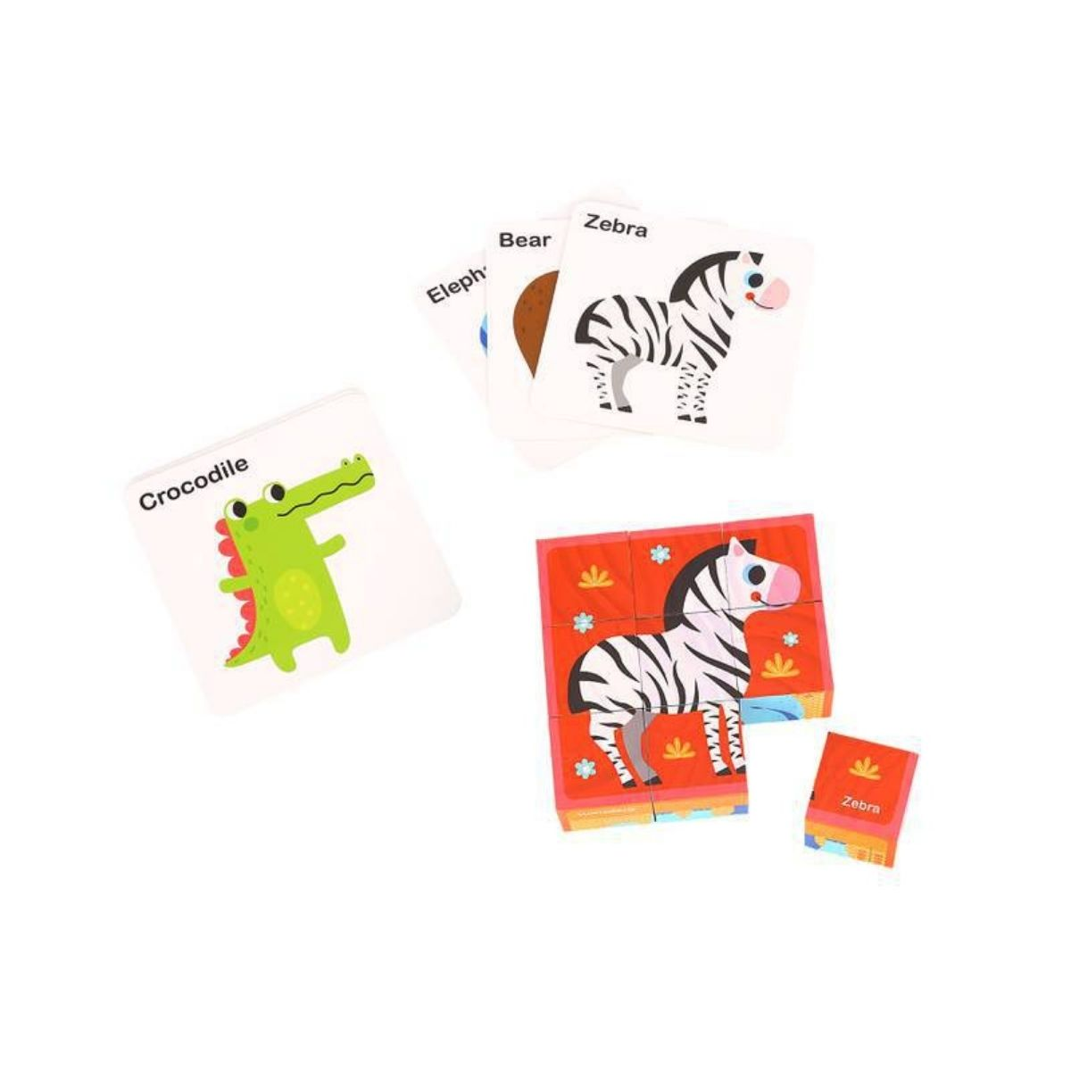Brinquedo Montessori Educativo Blocos Animais Puzzle