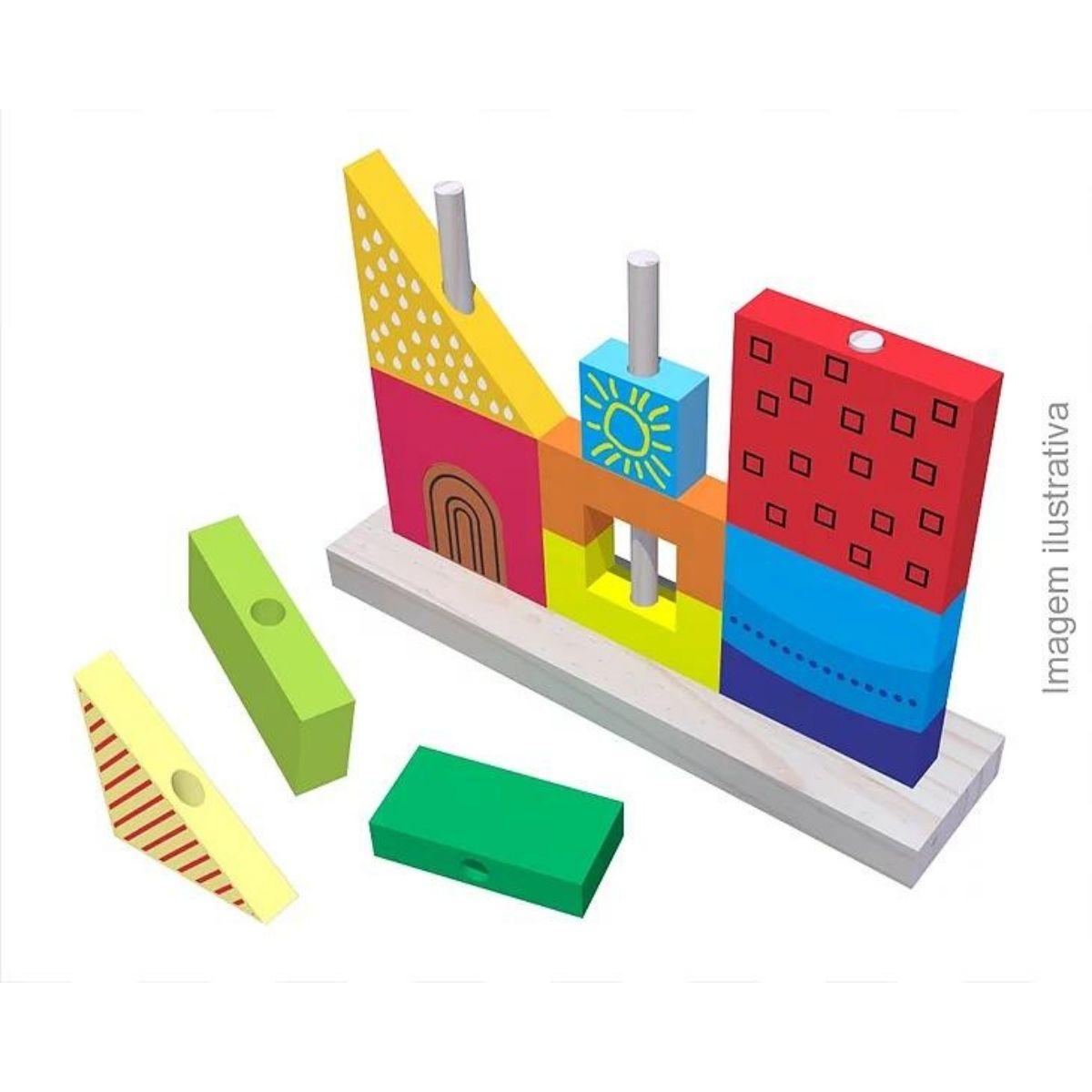 Brinquedo Montessori Educativo  Encaixe Vertical