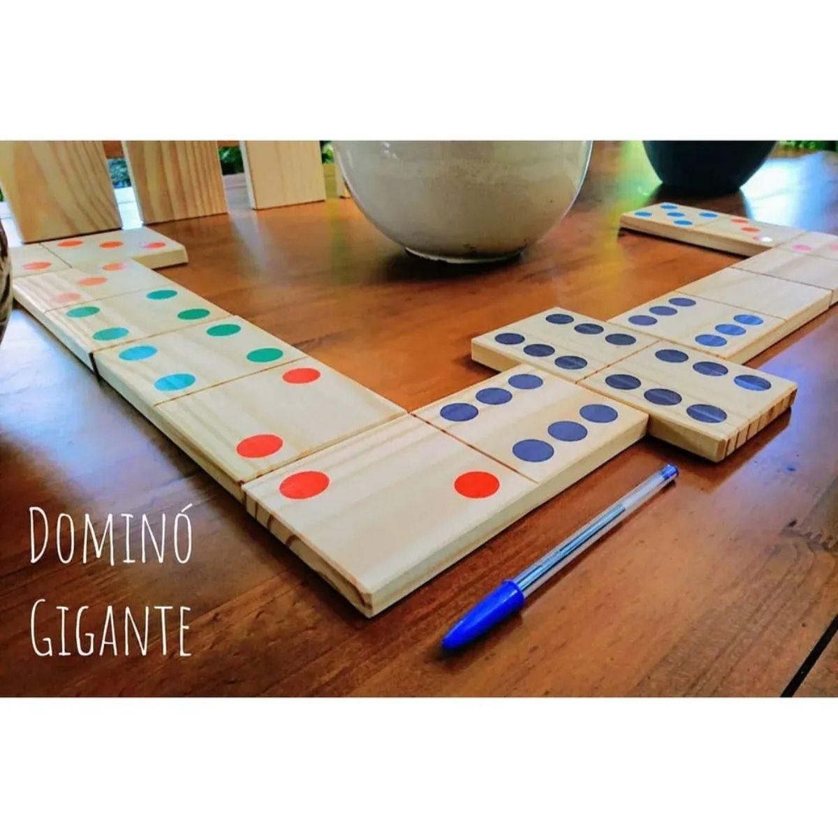 Brinquedo Montessori Educativo - Jogo Dominó Gigante