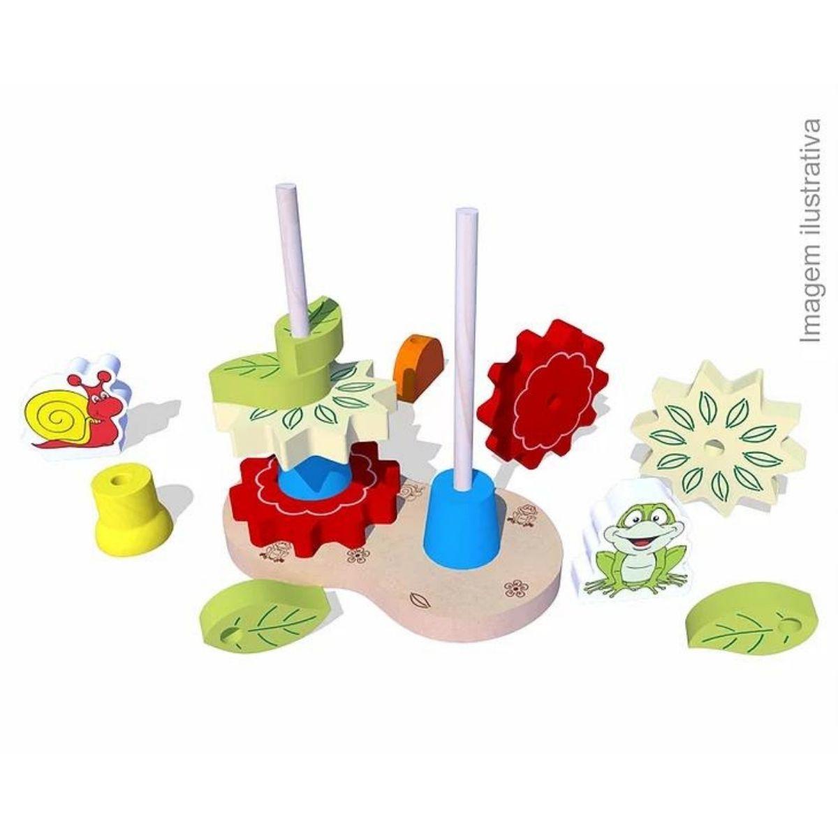 Brinquedo Montessori Educativo Torre Decorada