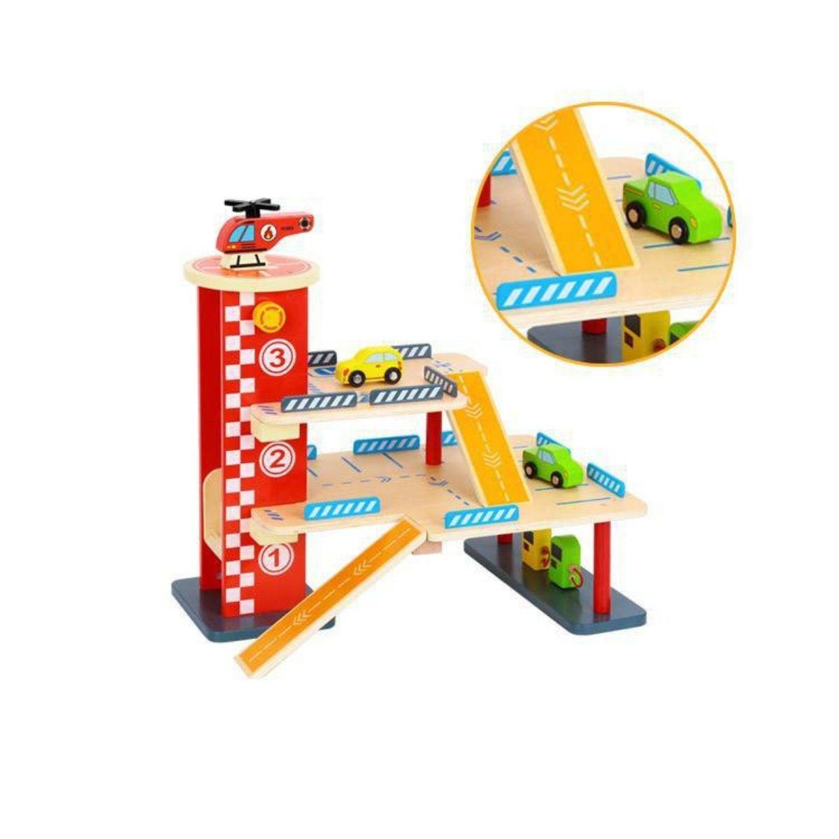 Brinquedo Montessori Lúdico - Garagem Estacionamento