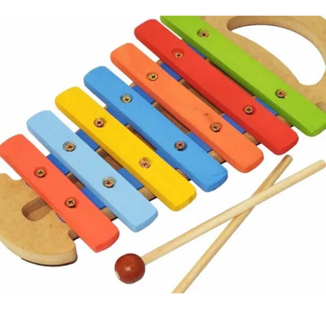 Brinquedo Musical Infantil Instrumentos Xilofone Com Alça