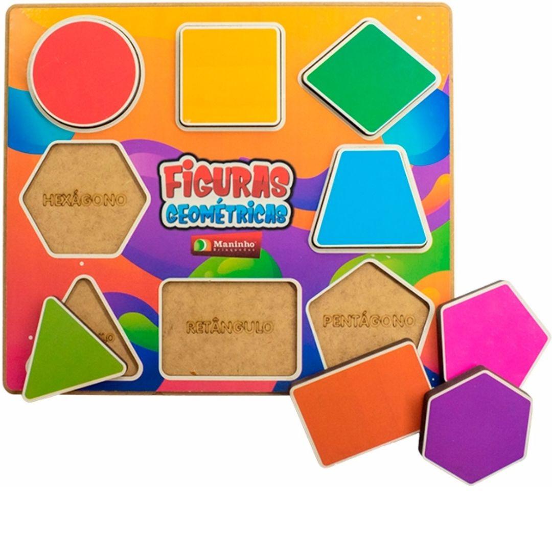 Brinquedo Pedagógico e Educativo - Figuras Geométricas