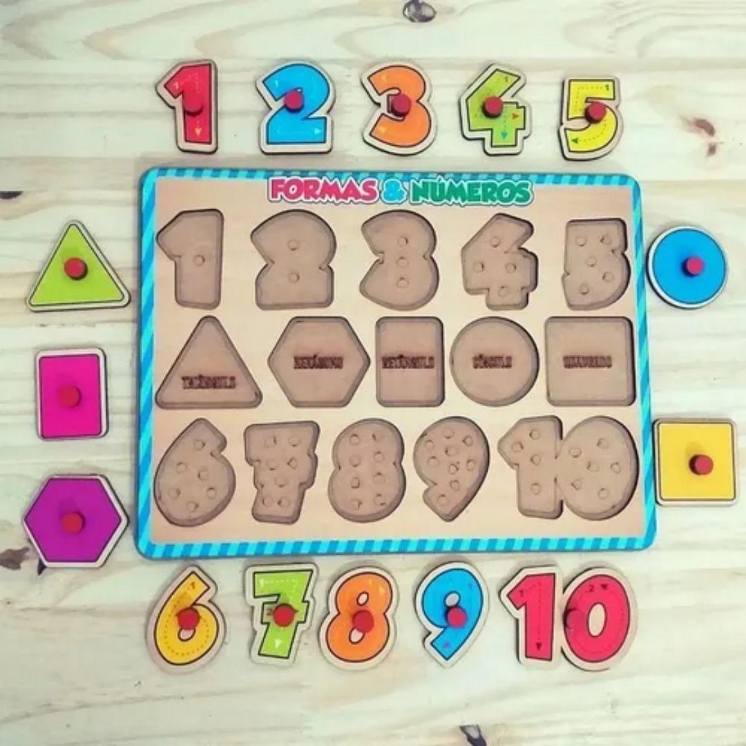 Brinquedo Pedagógico e Educativo - Formas e Números