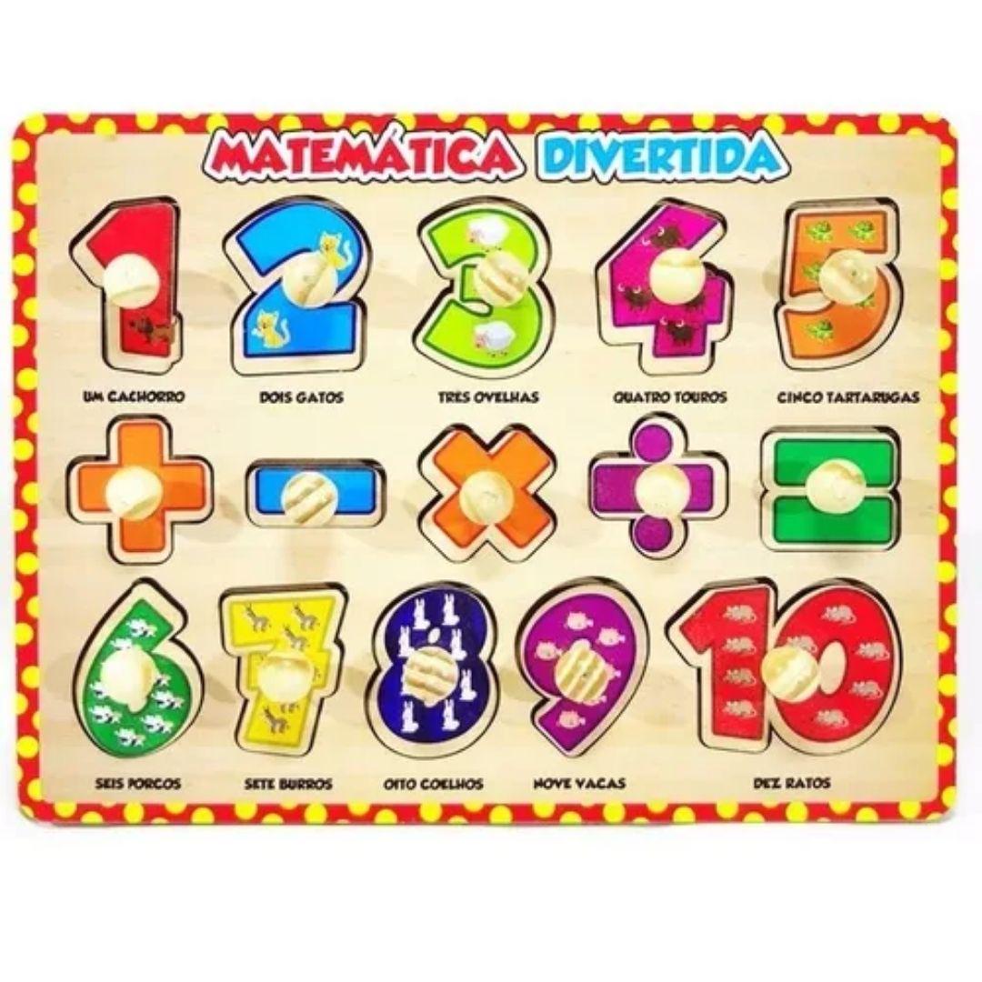 Brinquedo Pedagógico e Educativo - Matemática Divertida