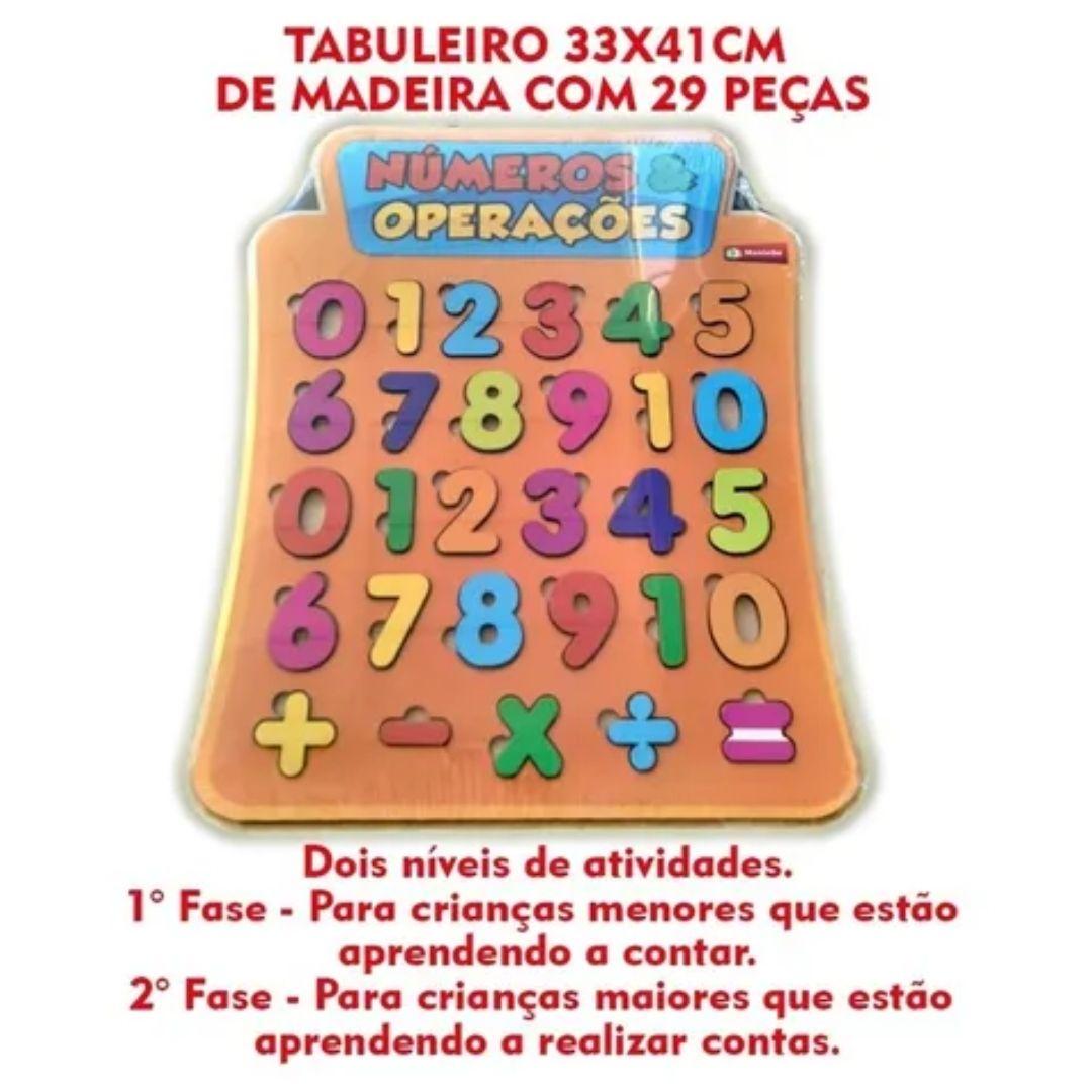 Brinquedo Pedagógico e Educativo - Painel Numérico