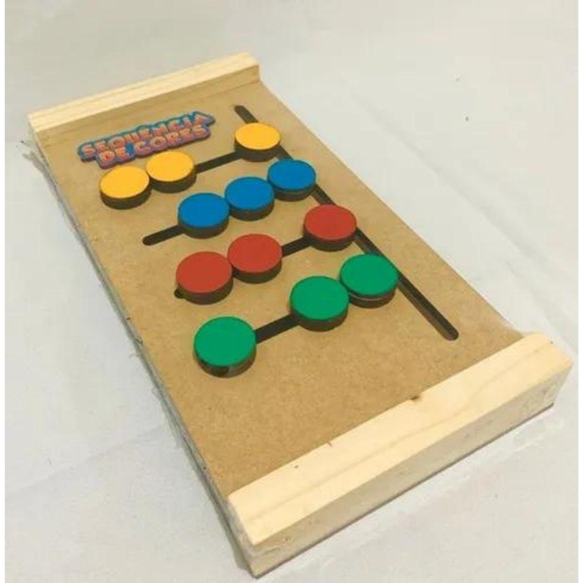 Brinquedo Pedagógico e Educativo - Sequencia De Cores