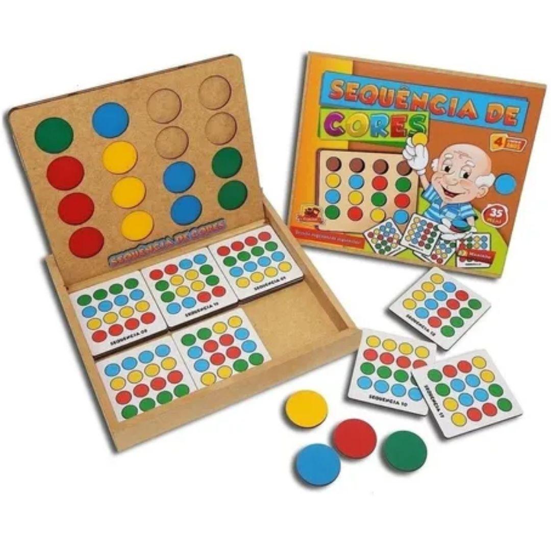 Brinquedo Pedagógico e Educativo - Sequencia De Cores - Linha Premium